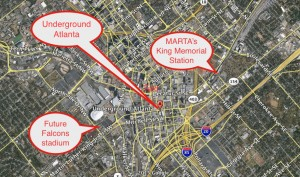 Underground Atlanta locator map