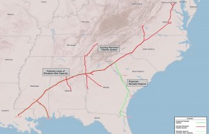 Palmetto Project map