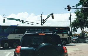 GRTA bus runs redlight