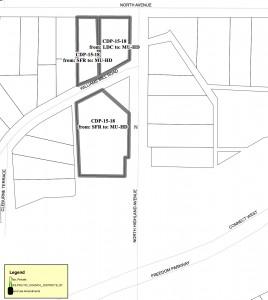 Manuel's Tavern, CDP map