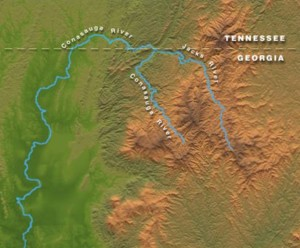 Conasauga River, map